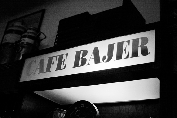 Cafe Bajer sign