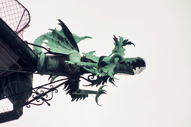 Dragon drainpipe