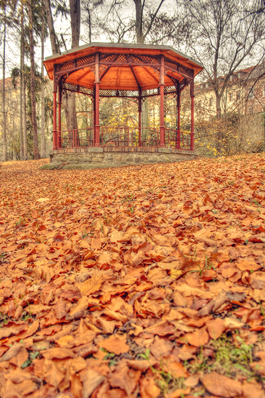 Leaves band stand