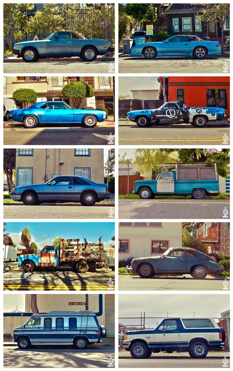 Cars Frame Blue
