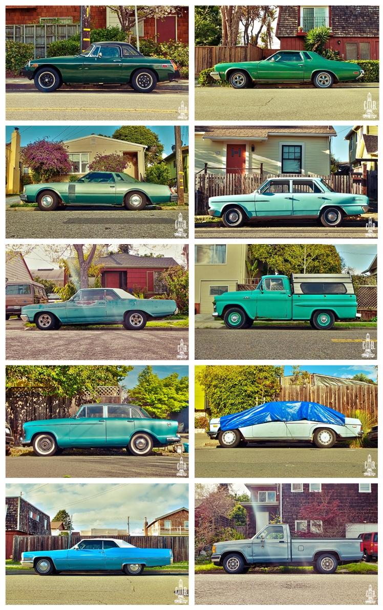 Cars Frame Green Cyan and Blue