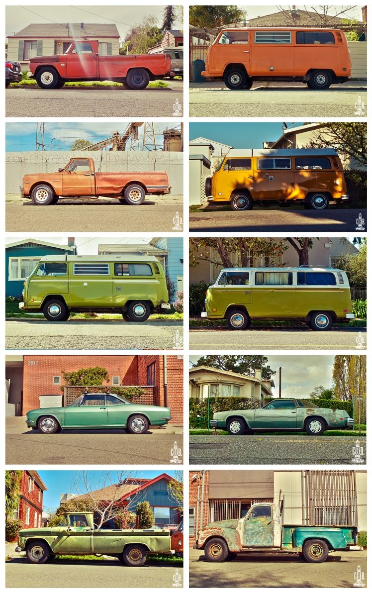 Cars Frame Orange Yellow and Green
