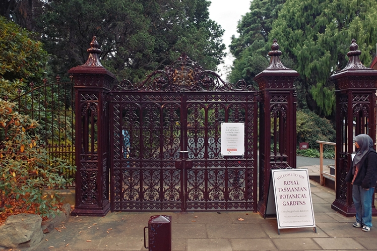 The entrance gate certainly passes muster. Most Botanic Gardens will have similar gates due to their popularity in the late 19th and early 20th centuries when such ornate gates were commonplace in large parks and gardens.