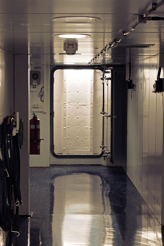 Watch your step, all the doors on navy vessels are designed to catch out drunk and clumsy people :)