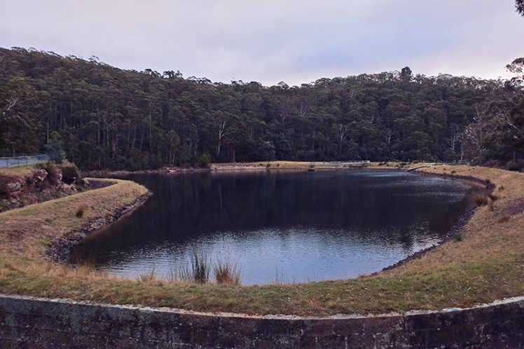 The first of three reservoirs you'll encounter on the walk up.