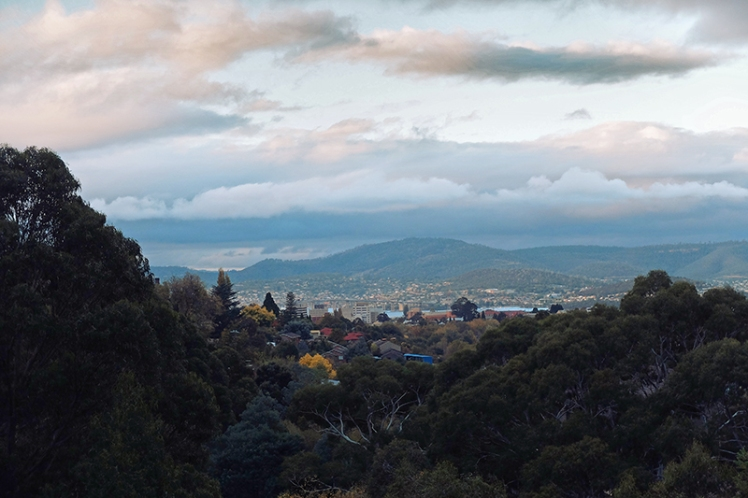 The view out over Hobart is quite nice, albeit not a patch on Mount Nelson.