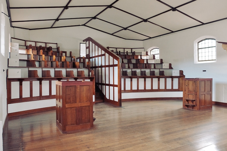 The chapel where the convicts remained separated and silent.