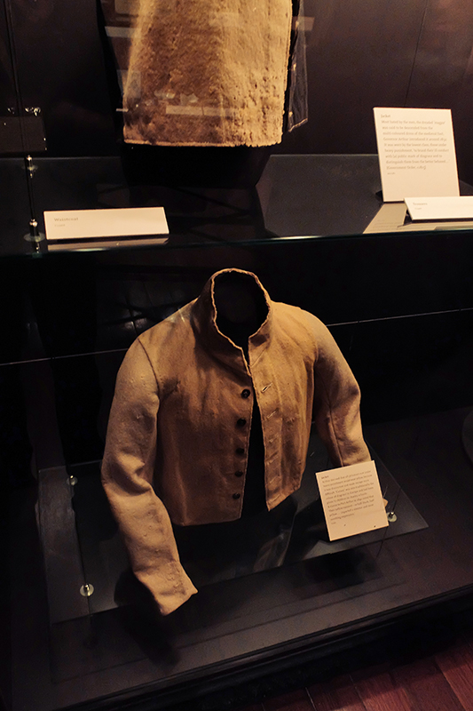 An example of the jackets worn by the convicts.