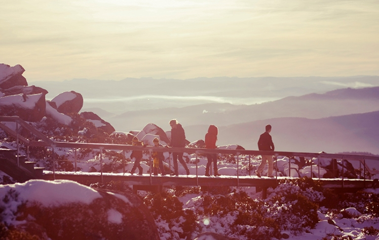 Be sure to wrap up warm when visiting Mount Wellington.