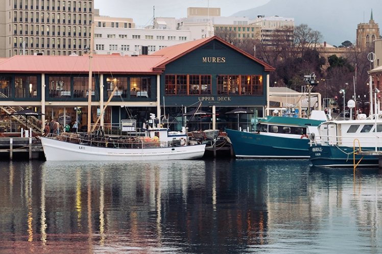 Mures (7) is a popular stop for tourists looking to sample the fresh fish caught by the fishermen of Hobart.