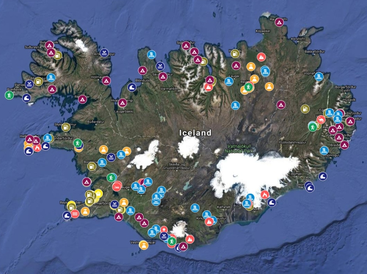 Iceland Trip Map